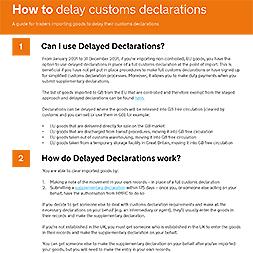 Delayed Customs Declarations