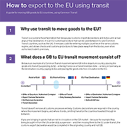 Exporting to the EU using Transit
